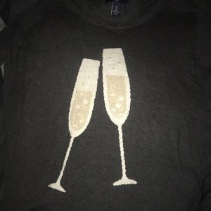Slate gray gap factory champagne sweater size m